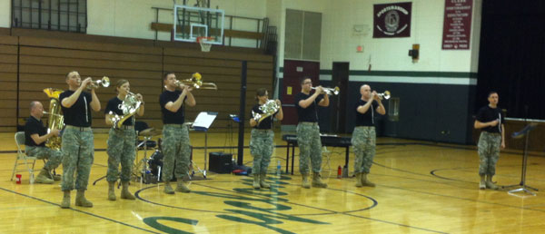Army Brass Band entertains Clark students