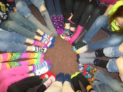Crazy Sock Days at Elementary