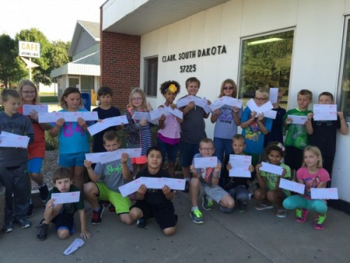 Clark 4th grade joins Great Mail race