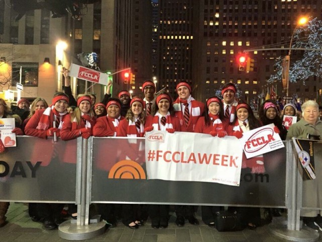 National FCCLA Officers visit the Today's show