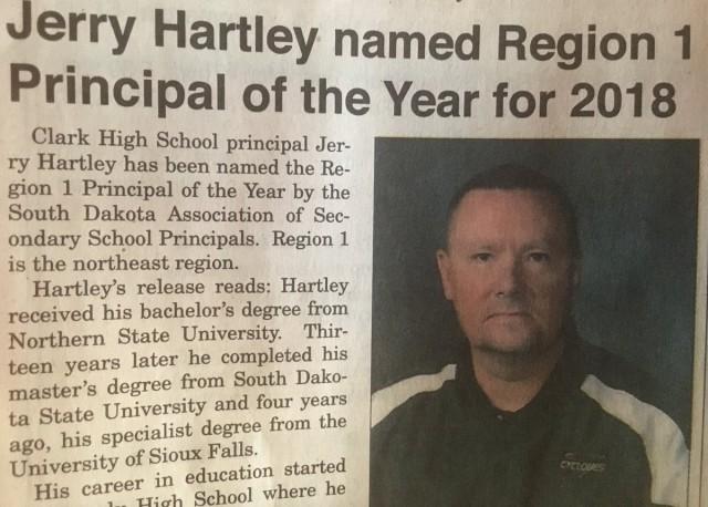 Congratulations Mr. Hartley