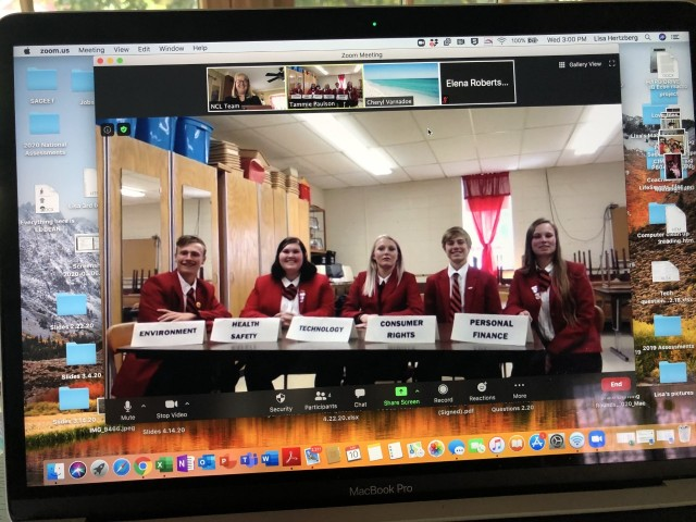 Clark FCCLA Quiz Bowl Team places 2nd at Virtual National Conference